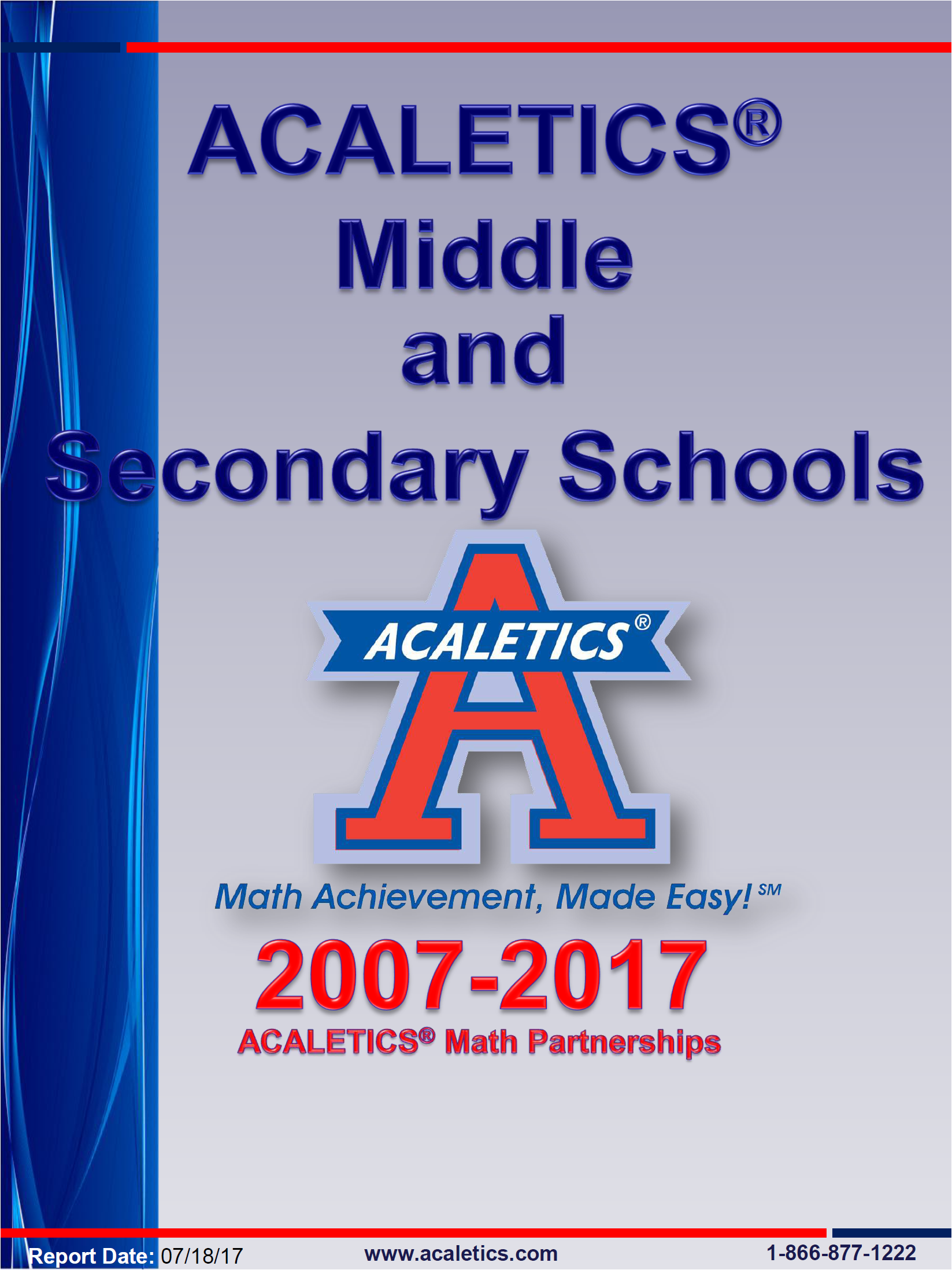 Middle and Secondary Report Cover